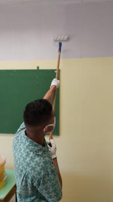 A falfestés is a gyakorlati vizsga része