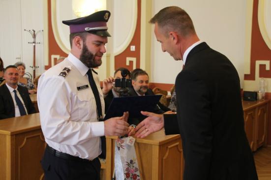 A polgármesteri gratuláció.