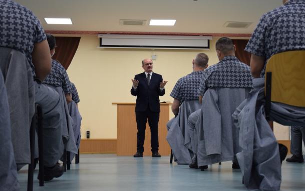 A Tiszalöki Országos Büntetés-végrehajtási Intézetben megtartott istentisztelet