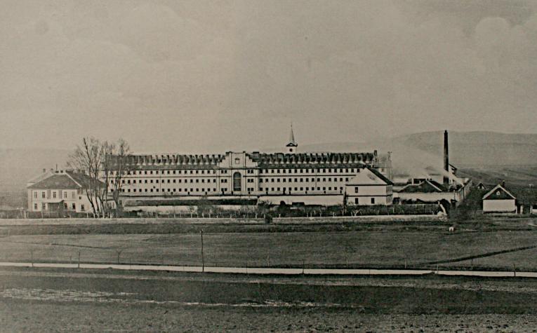 A Sopronkőhidai Fegyház és Börtön épülete a 19. század végén