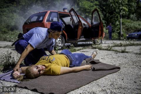 A mentési gyakorlat végrehajtása