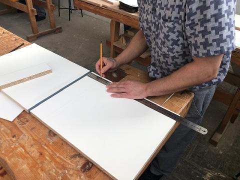 Asztalosipari szerelő vizsga a Venyigén